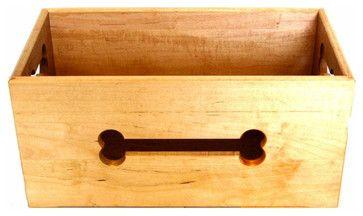 Dog Bone Cutout Wooden Dog Toy Box - Contemporary - Pet Supplies ...