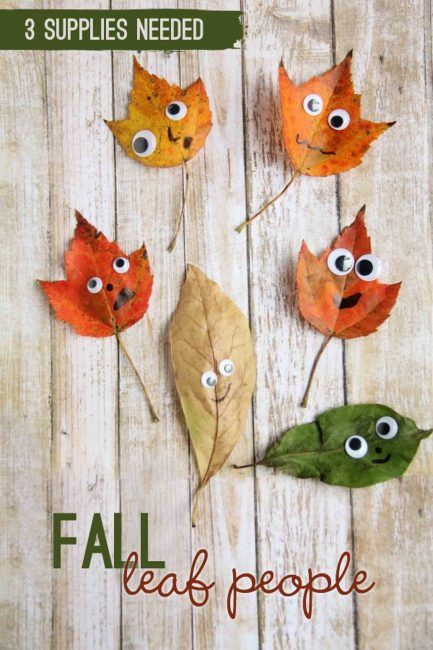 This leaf people fall craft is a fun way to build fine motor skills with a cute craft!