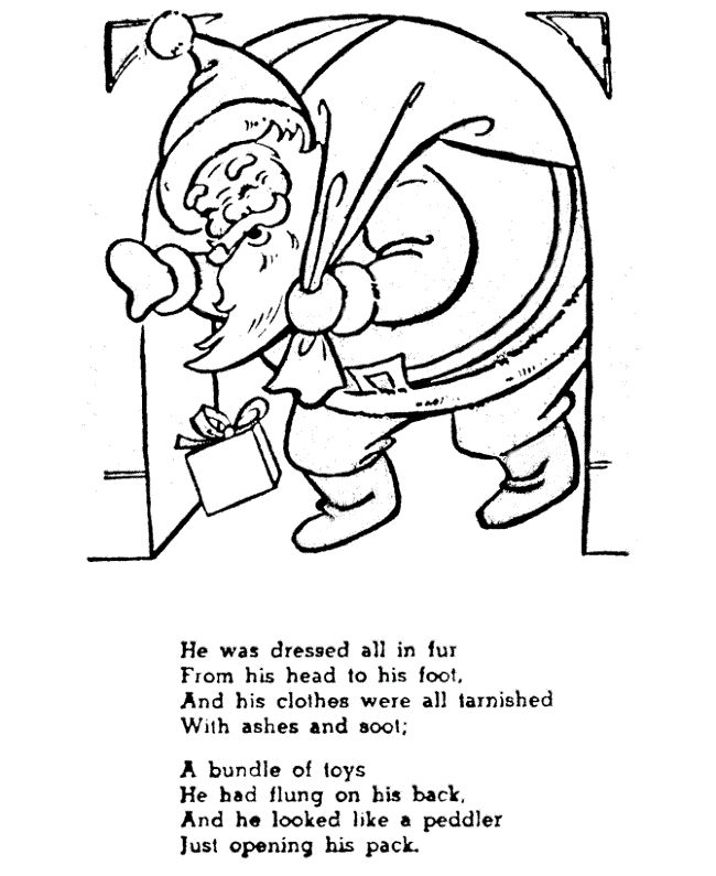 Coloring Pages Of The Night Before Christmas