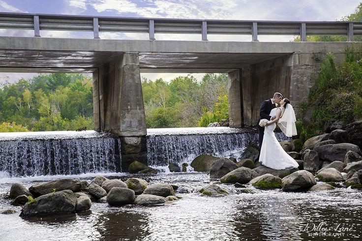 Bridge wedding photo Willow Lane Photography - Barrie Wedding Photographer www.willowlanephotography.ca