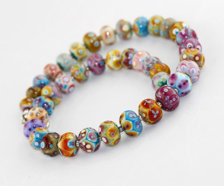 'Spicy beans' handmade glass beads in spicy and colorful moods