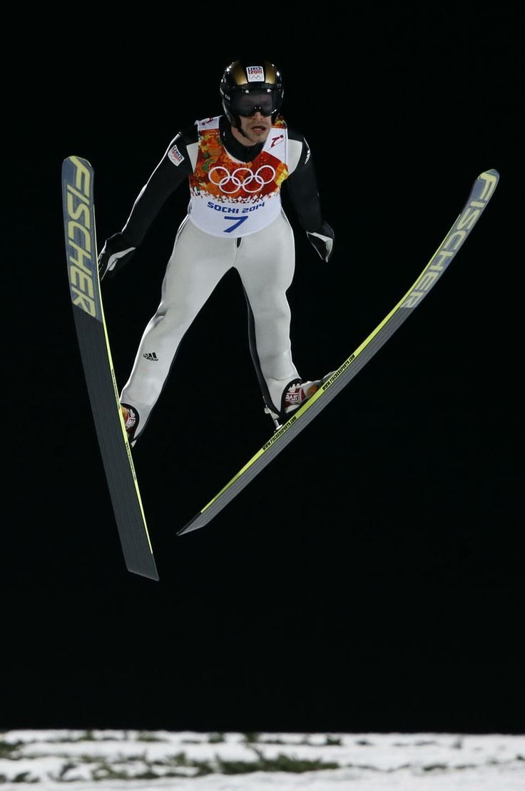 DAY 8:   Roman Koudelka of the Czech Republic competes during the Ski Jump Men's Large Hill Individual Qualification http://sports.yahoo.com/olympics