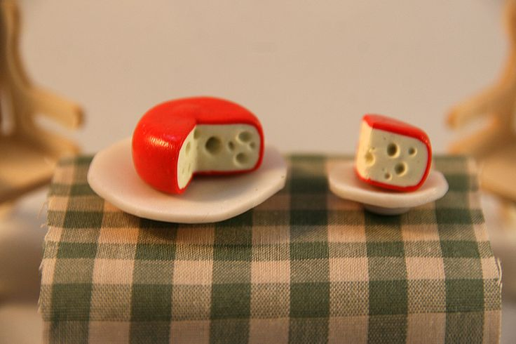 Cheese - polymer clay