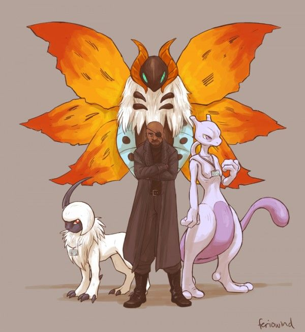 Nick Fury. Se os Vingadores tivessem Pokemons. Autoria: Tina Wang