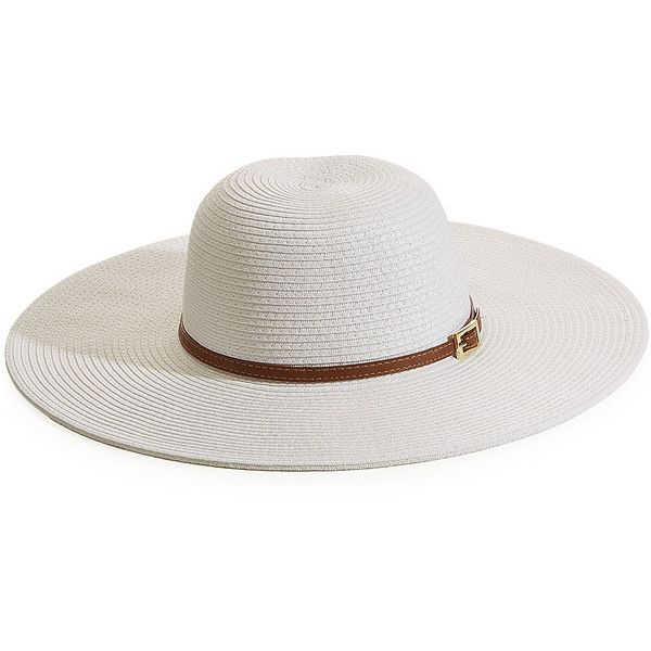 Melissa Odabash Raffia Sun Hat ($125) ❤ liked on Polyvore featuring accessories, hats, white, beach hat, white sun hat, melissa odabash hats, buckle hats and melissa odabash