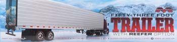 1302 Moebius 53' Trailer with Reefer Option 1/25 Scale Plastic Model Kit - #modelkit #trailer