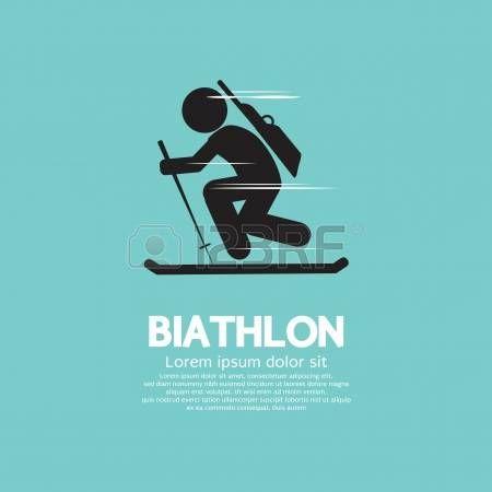 Biathlon Vector Illustration photo