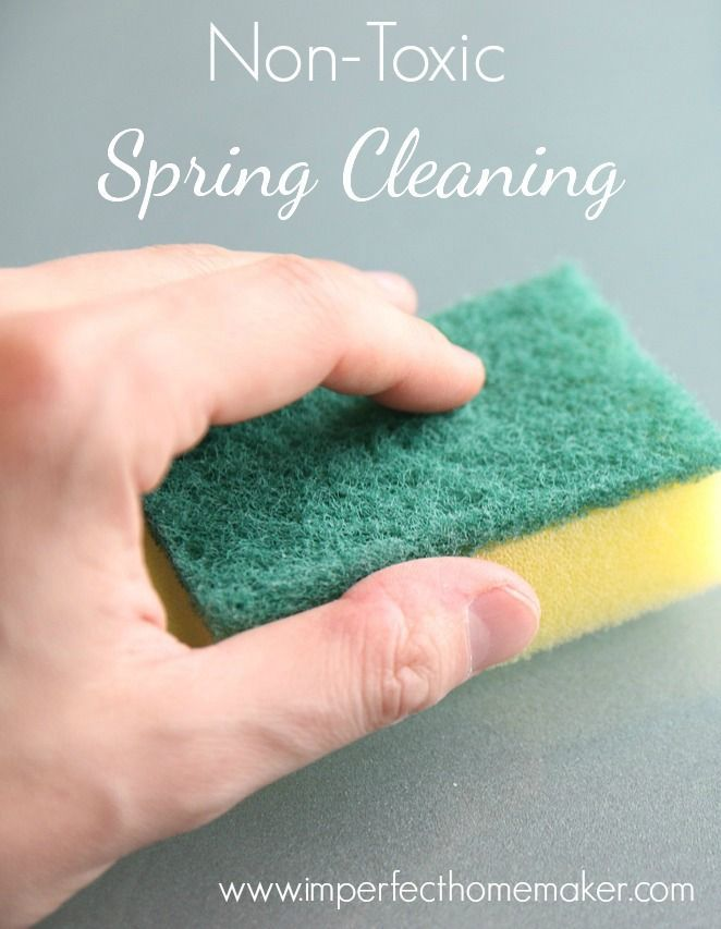 Non-Toxic Spring Cleaning Solutions - Get your home sparkling clean without the use of harsh chemicals! | DunnDIY.com