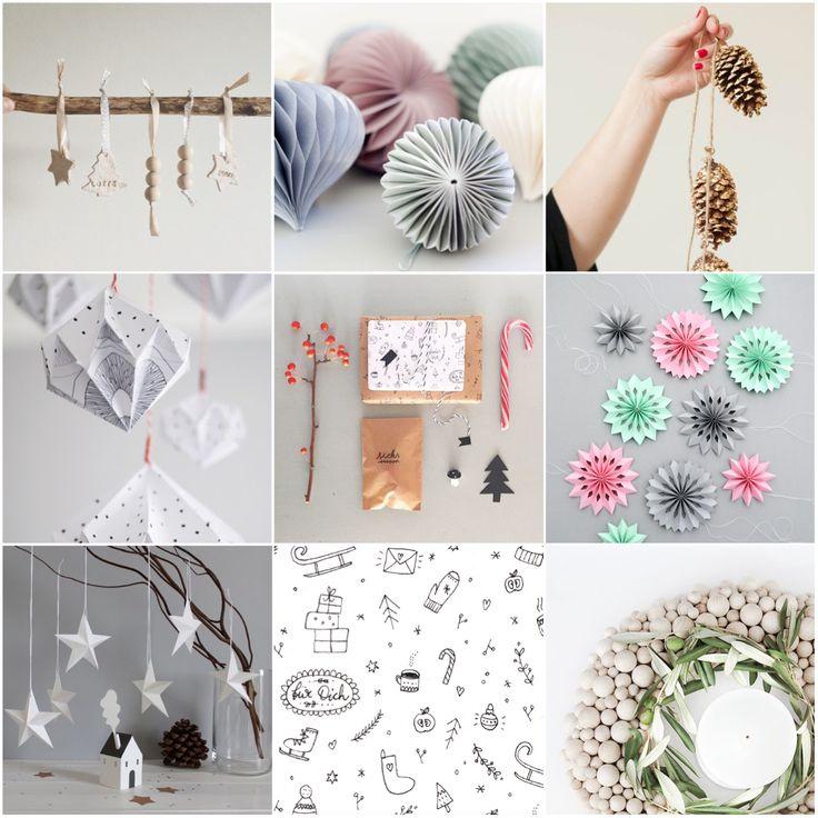 Kostenlos Weihnachstdeko, Geschenkpapier, Papierdiamante, selbst machen, DIY