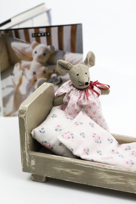 Mouse Mathilda with own bed, £29.00