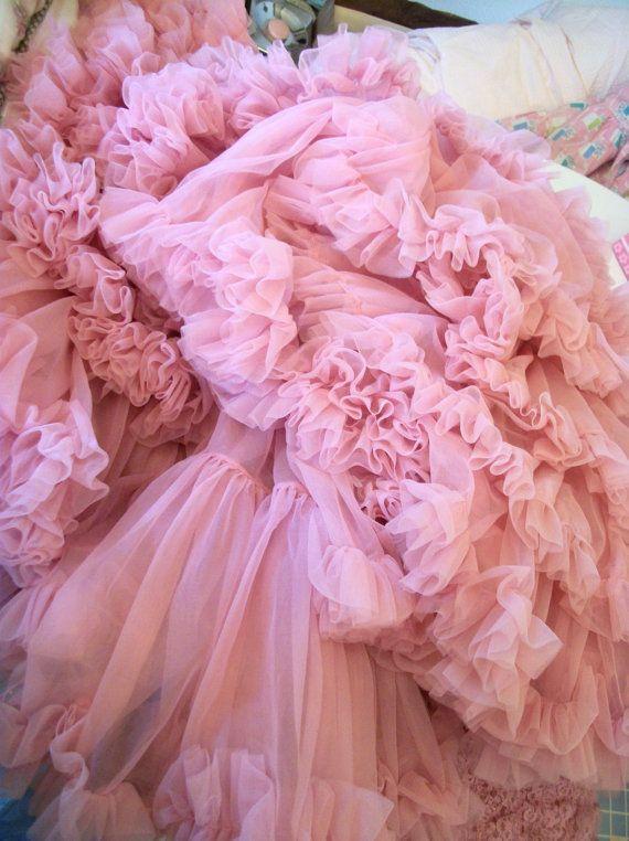 pink crinoline petticoat: