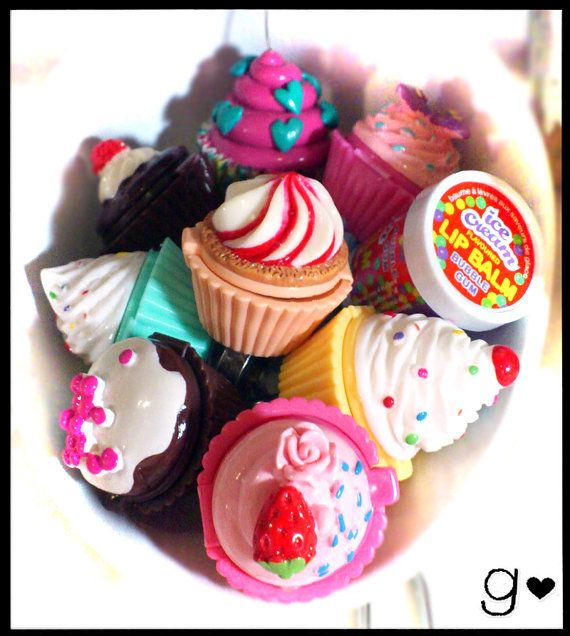 Cupcake Lip Gloss Ring  Cherry  Ice Cream  by GabriellesCreations
