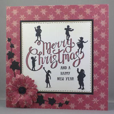Claritystamp Wee Folk Christmas card.