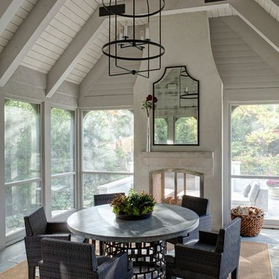 Best 25 indoor outdoor fireplaces ideas on pinterest for Wood burning stove for screened porch