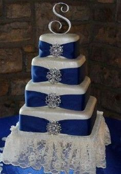 1000 Ideas About Royal Blue Cake On Pinterest White
