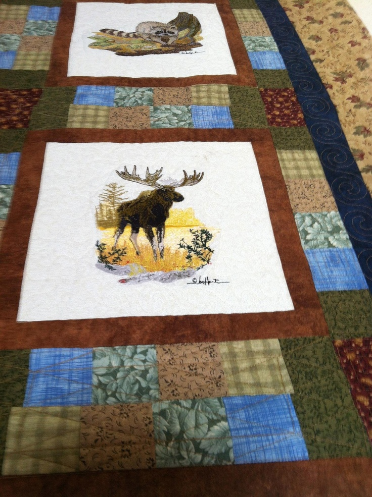 354 Best Eagle Wolves Deer And Nature Quilts Images On