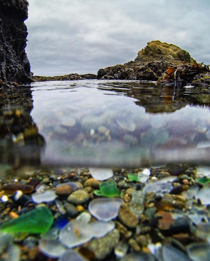"""There is a Glass Beach in Ft Bragg, California, that's famous for the iridescent sea glass that shimmers on its shores. Everybody is taking the glass and collecting it..."""""""