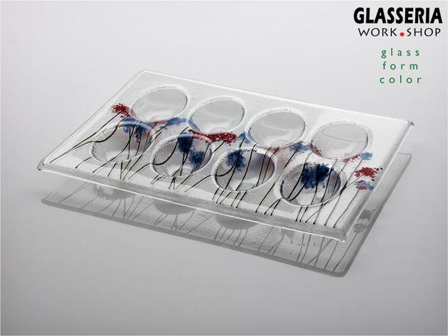 Eiertablett - DANDELIONS made by GLASSERIA via DaWanda.com