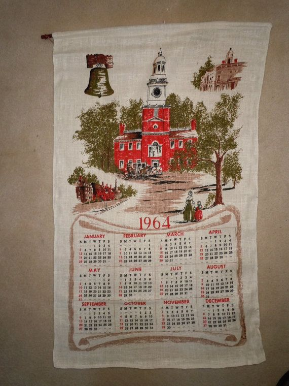 Calendar Design Sia : Linen calendar wall hanging by theshastalakeshop on