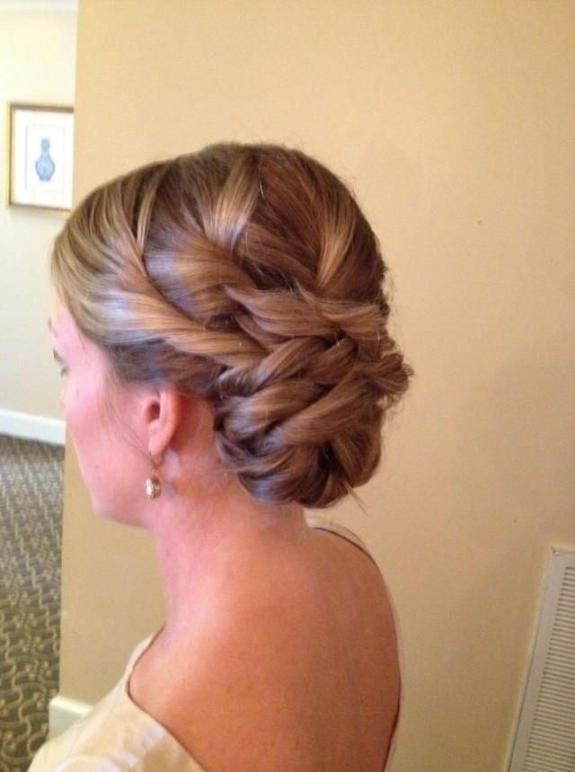 bridal wedding side bun hairstyle