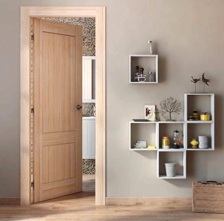 las puertas en tonos naturales son muy vers tiles y