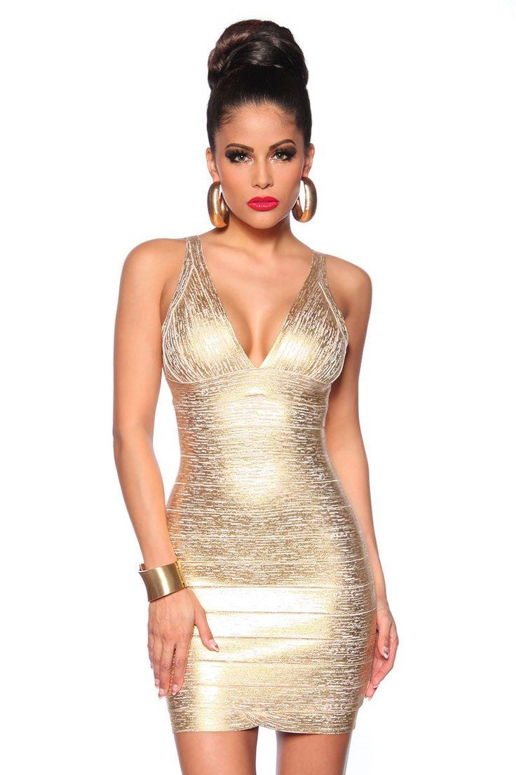 Dámské šaty zlaté