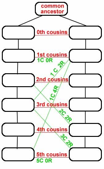 How to figure out the cousins, removed cousins, great-aunts, etc...