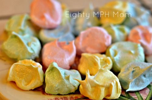 Meringue Cookies - perfect for Easter or Spring! #Easter #Spring ...