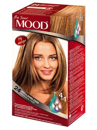 » N 24 MELLANBLOND Permanent hårfärg med det unika komplexet multitechnology – ett 4 in 1-system som färgar, tvättar, skyddar och vårdar ditt hår, för naturlig färg och glans. Täcker grått hår upp till 100%  Naturlig mellanblond nyans. Bevarar den naturliga färgen på mörkt hår. Ljust hår blir mörkare. Grått hår blir naturligt mellanblont.