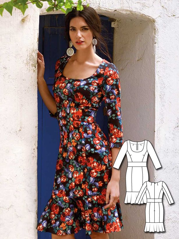 Burda Spanish Streets collection. Without the bottom flounce, I like it.