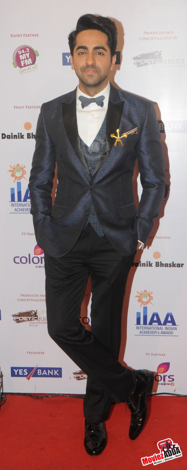 Ayushmann Khurrana at International Indian Achiever Award 2014