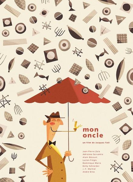 Illustrator: Andrew Kolb - http://www.kolbisneat.comMon Oncle, Travel Photos, Screens Society, Illustration, Travel Tips, Graphics Design, Silver Screens, Film Posters, Andrew Kolb