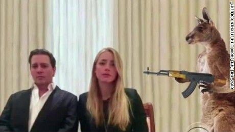 Watch Johnny Depp apology mocked as hostage video. CNN's Jeanne Moos has the best parodies.