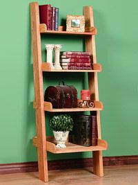 how to build a ladder bookcase!