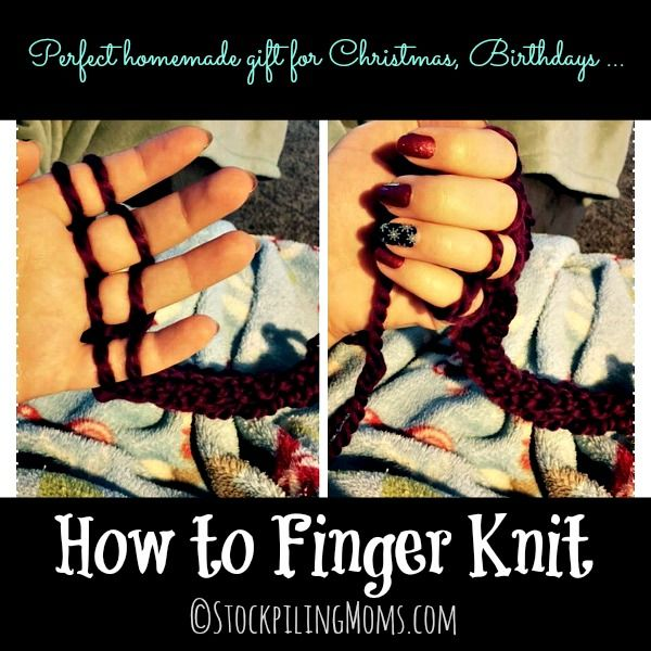 How to Finger Knit is easy and no tools needed!