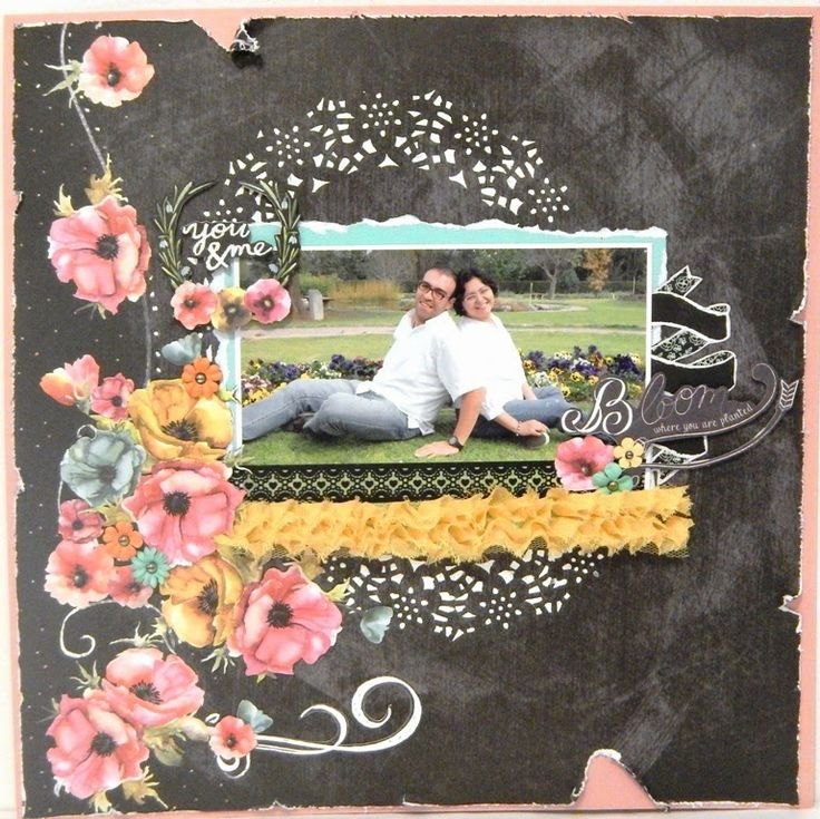 "Scrapbook Layout Con Prima ""Optimist"""