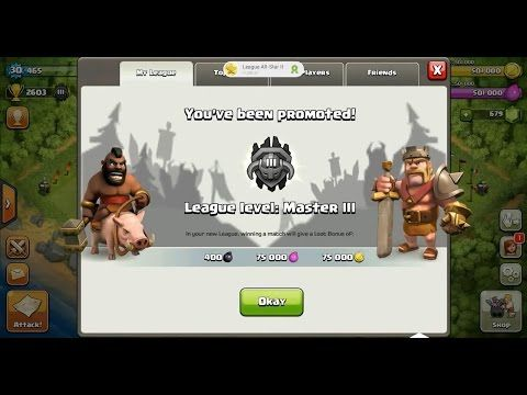 Clash of Clans Town Hall 4 (TH4) Master League III ⋆ Clash of Clans 3 Stars Clan Wars