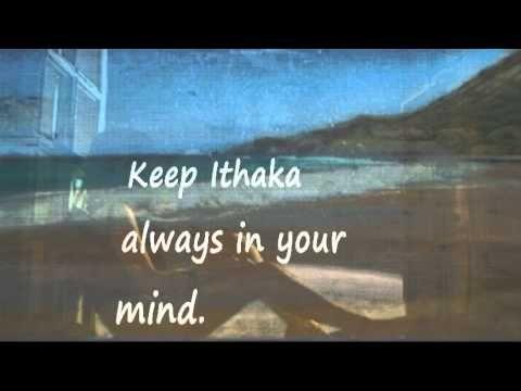 ITHAKA KAVAFIS Sean Connery - Vangelis - lyrics on the screen - YouTube