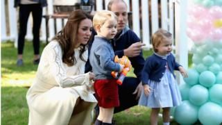 Prince George and Princess Charlotte in Pippa Middleton wedding roles