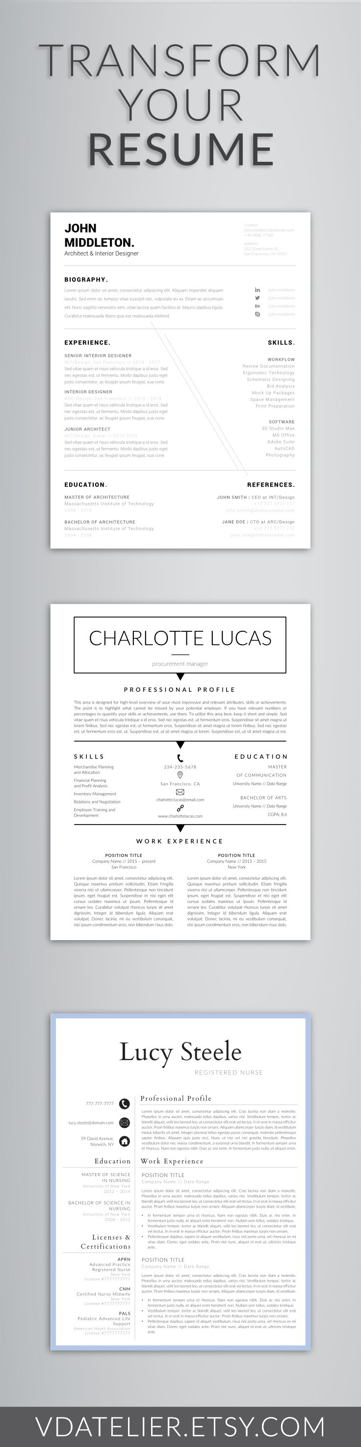 professional modern resume template for word - Modern Resume Template Word