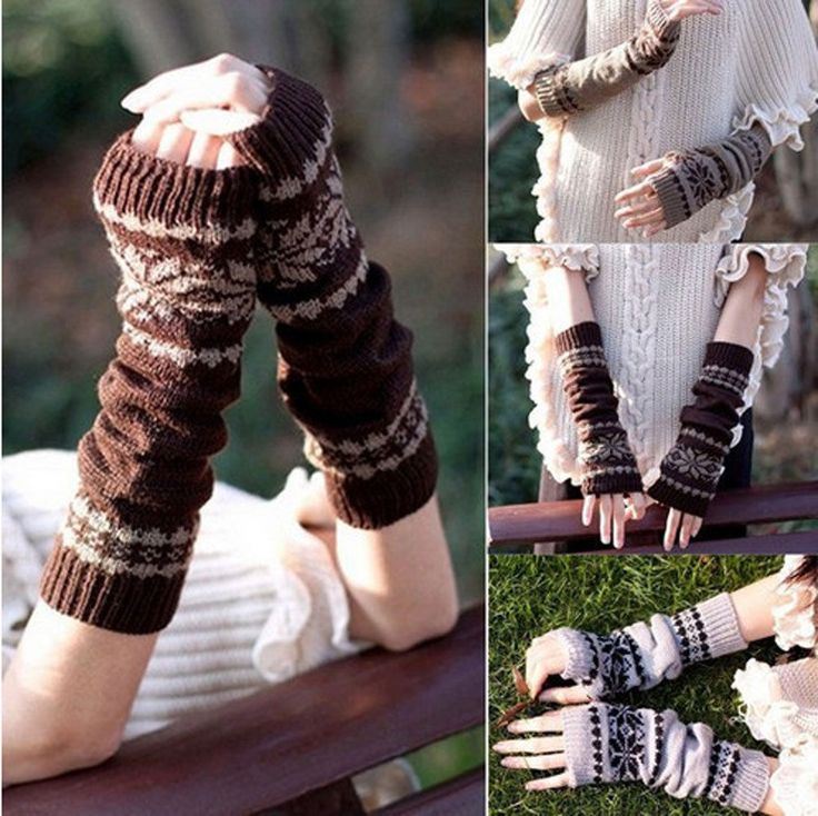1 Pair of Hand Warmer Mitten Gloves Long Fingerless Snowflake Winter. women arm hand warmer mitten. Huge Sale this Weekend only. Get them before price goes up. Convenient, soft and comfortable to wear. | eBay!