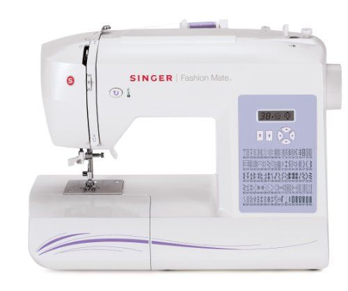 Singer 5500 Fashion Mate Sewing Machine features an automatic needle threaded, automatic stitch length & width, automatic tension and 6 fully automatic 1-step buttonholes that will make sewing easy. It also includes a heavy duty metal frame, hard-sided cover and extension table for large projects. Here are the details: 100 built-in stitch patterns include 9 basic, 76 decorative, 8 stretch with 6 fully automatic 1-step buttonholes and 1 endless buttonhole.
