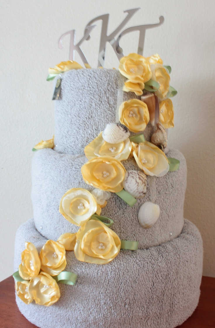 Wedding Shower Gift For Brother : Wedding Shower Towel Cake (Three-Tier) Brother bear & Ds wedding ...