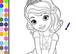 SofiaJuegos.com - Juego: Colorear Princesa Sofia Gratis - Pintar Princesita Sofia Princesas Disney Online