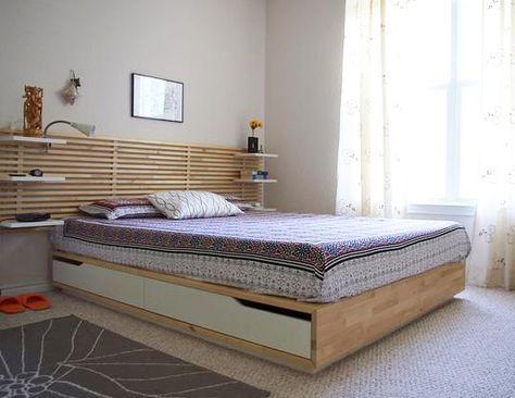 tete de lit en bois massif plus
