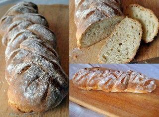 Treccia di pane giallo