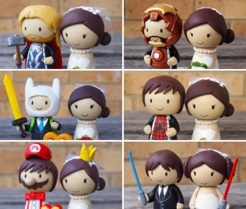 Gonna start this board off ;-). You did mention geeky element. Arnt these geeky cake toppers cute!!!! haha- jodie