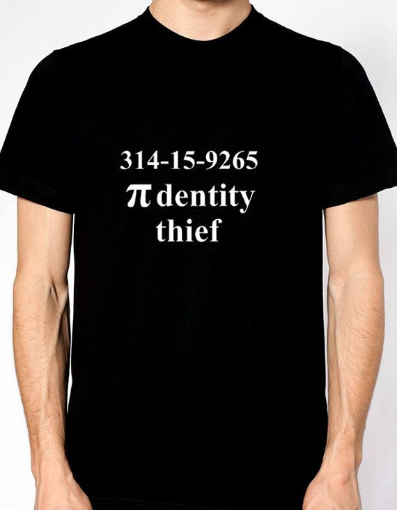 Pi-dentity Thief Joke Math Geek Shirt National Pi Day T-Shirt March 14th 314-15-9265