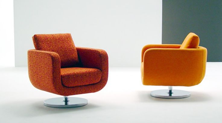 modern swivel chairs for living room   Modern Retro Swivel Chairs