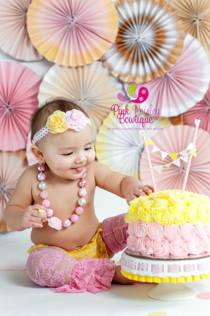 A personal favorite from my Etsy shop https://www.etsy.com/listing/269566414/baby-headband-necklace-bloomer-set-youBaby Headband, Necklace & Bloomer set, You are my sunshine birthday cake smash, Pink lemonade birthday, Baby headband, Cake smash outfit